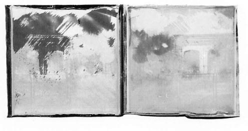 Le pavillon de l'éléphant, 5,9 x 18 cm, diptyque, photo polaroïd