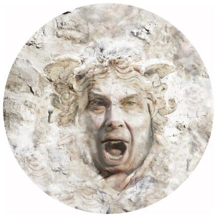 2018-Méduse & Cie 02, impression digitale sur aluminium, diamètre 85 cm.