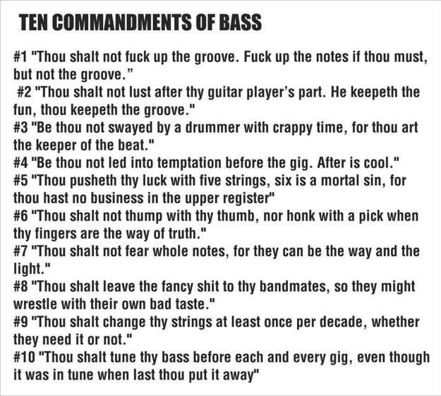 Bass 10 commandements