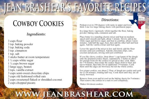 Cowboy Cookies Recipe by Jean Brashear