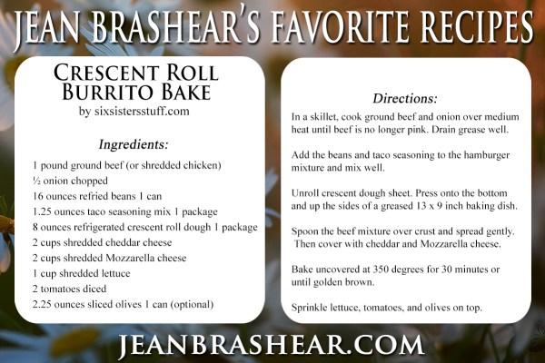 Crescent Roll Burrito Bake by Jean Brashear