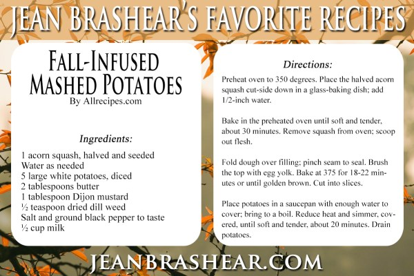 Fall-Infused Mashed Potatoes Recipe by Jean Brashear