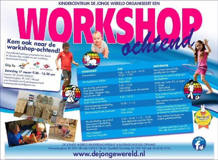 Workshopochtend voor ouders en kinderen in Leek.