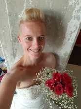 selfie trouwjurk