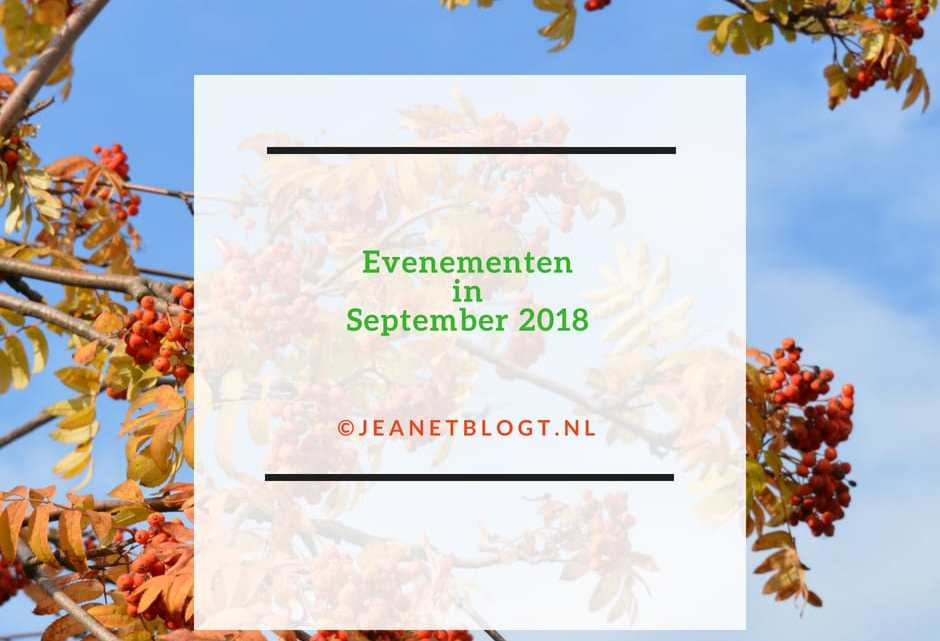 Wat is er te doen in september?