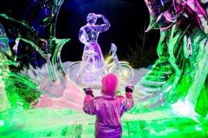 kerstvakantie ijssculpturen