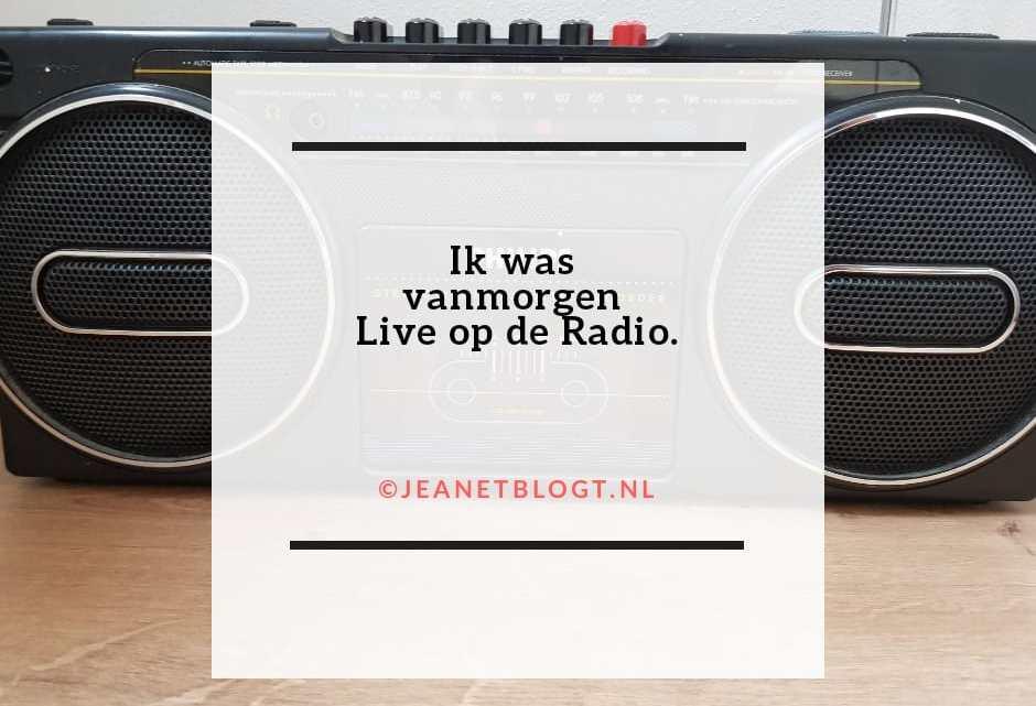 Ik was vanmorgen live op de radio te horen.