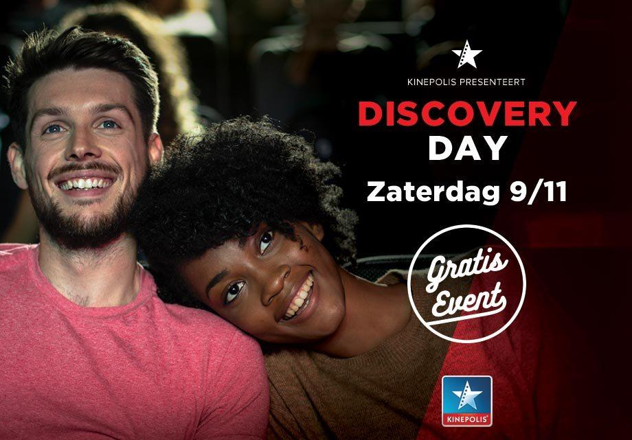 Gratis films kijken bij Kinepolis tijdens Discovery Day op 9 november.