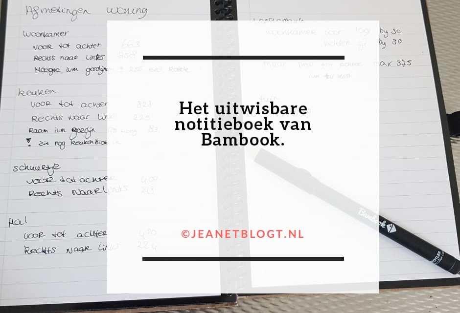 Het uitwisbare notitieboek van Bambook.