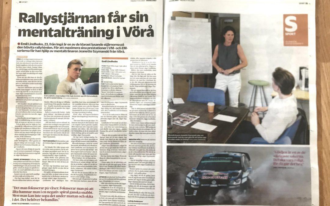 Vasabladet och Österbottens tidning uppmärksammar mental träning!