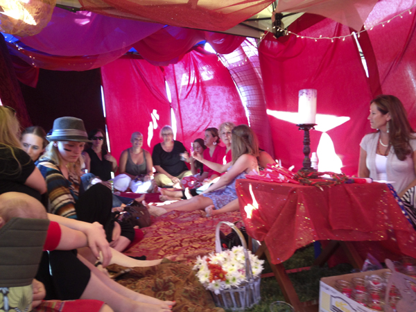 44 Women Celebrated The Red Tent at Joy Gardens
