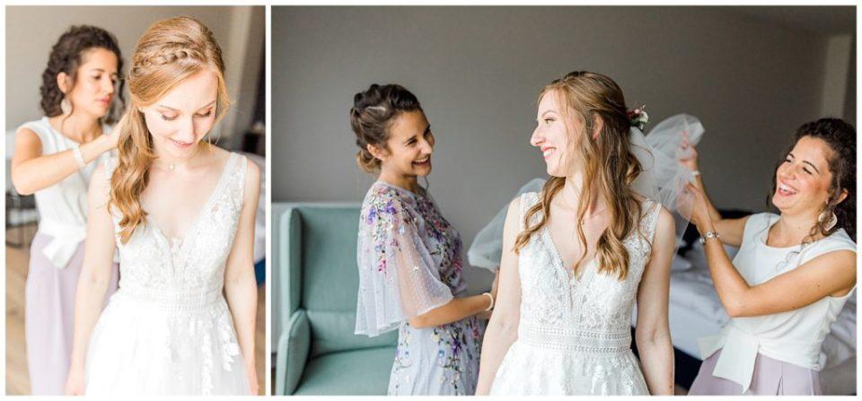bruden og brudepiger