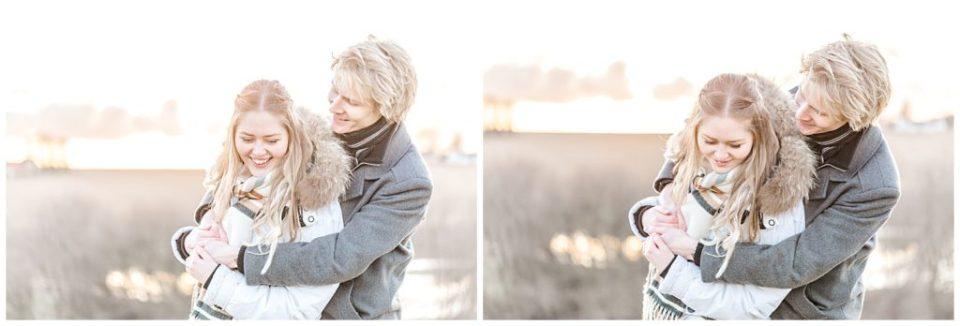 vinter forlovelsesbilleder taget af bryllupsfotograf jeanette merstrand