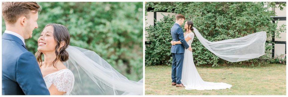bryllupsbilleder i haven af bryllupsfotograf