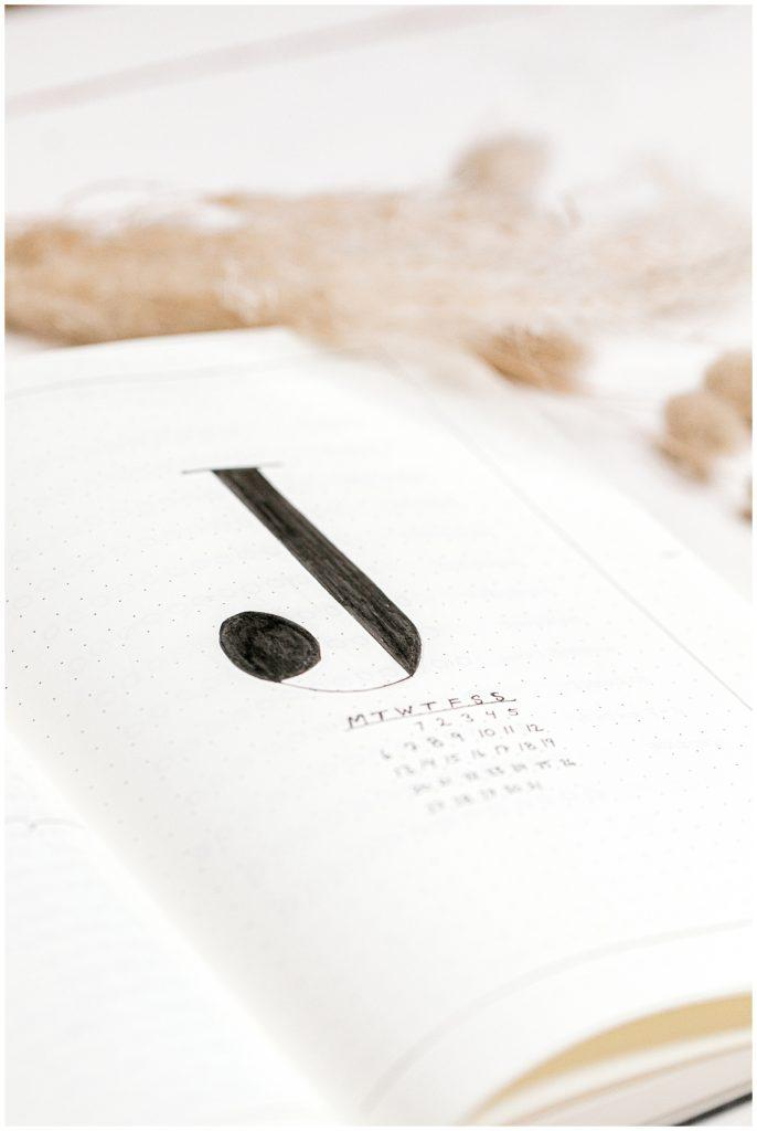 simple layout til bullet journal dansk jeanette merstrand