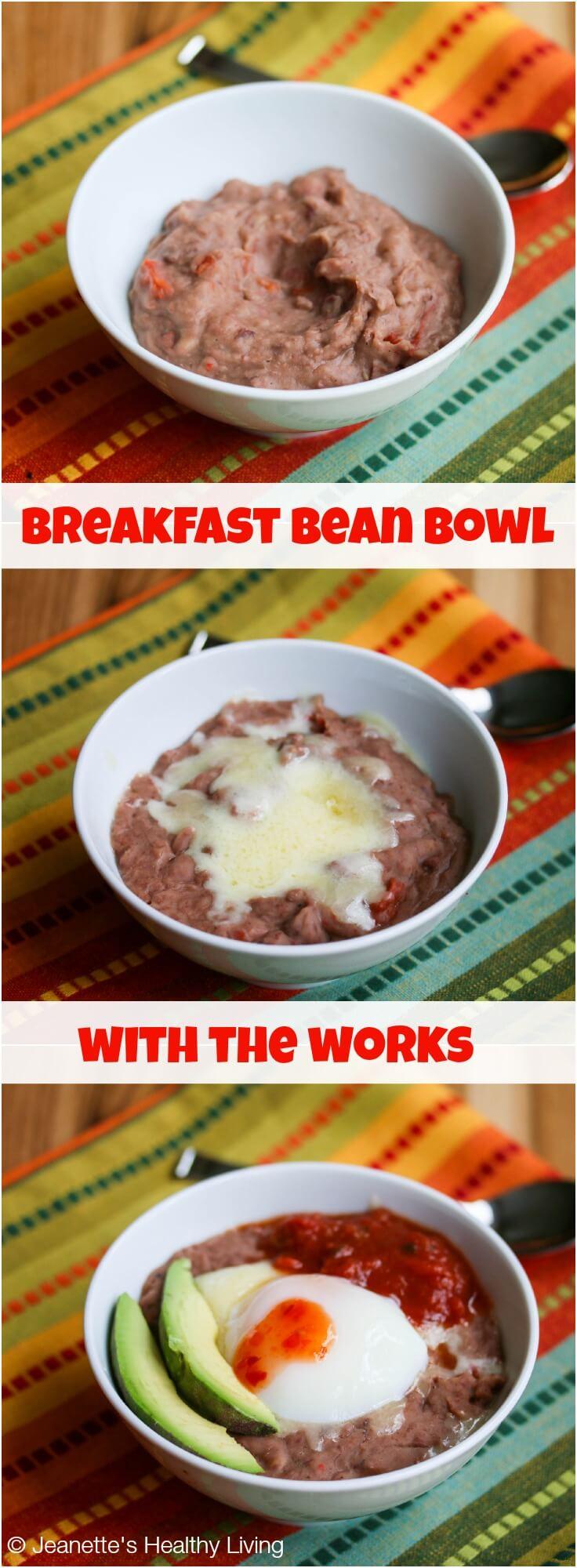 Breakfast Refried Bean Bowl © Jeanette's Healthy Living