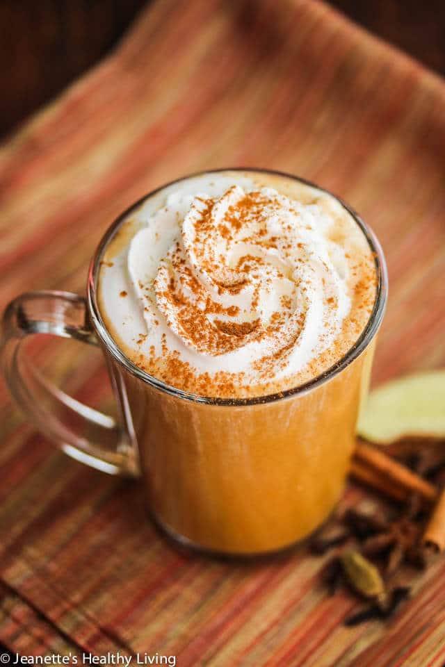 Skinny Pumpkin Chai Latte Recipe  Jeanettes Healthy Living
