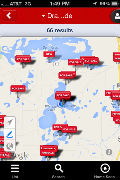Edina Realty mobile property search app