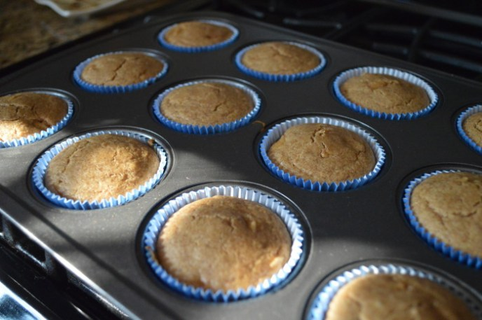 The toothpick test was the most reliable way to tell if the apple almond butter muffins were done. It should come out perfectly clean from the center of a muffin.