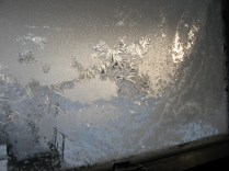 Not well enough insulated window frosting.