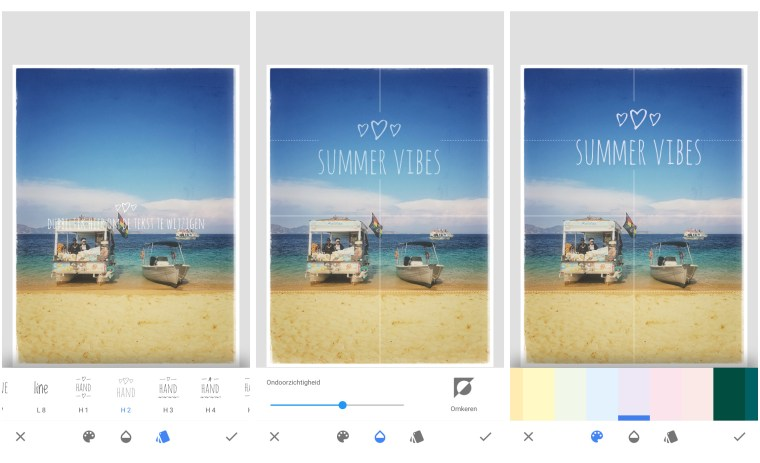 snapseed, tekst, smartphone fotografie