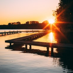 Sunset Kralingen pier