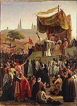 Saint-Bernard prêchant la 2ème Croisade à Vézelay en 1146
