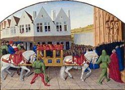 Une litière au Moyen Âge