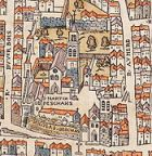 Plan de Paris vers 1550 rue St Martin