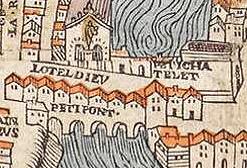 Paris vers 1550 le Petit pont