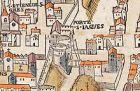Plan de Paris vers 1550 rue St Jacques