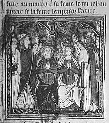Couronnement de Jean de Brienne et Marie de Montferrat
