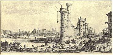 La tour de Nesle et le Pont Neuf