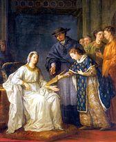 Saint Louis et sa mère Blanche de Castille