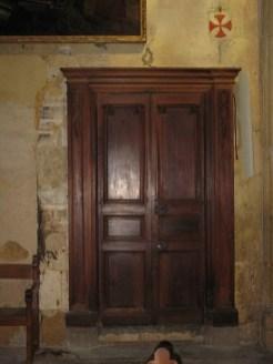 Porte de la salle capitulaire des moines
