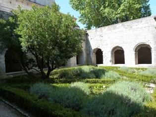 Le cloître, jardin