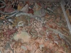 Le squelette de la fresque du Jugement Dernier