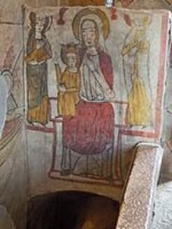 La vierge et l'Enfant couronné