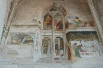 La chapelle des fresques-Scènes de la vie de Jean-Baptiste.