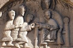 Tympan de l'Adoration des Rois Mages