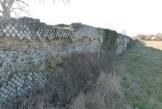 Soucieu en Jarrest - parement réticulé du mur
