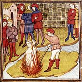 Jacques de Molay sur le bûcher