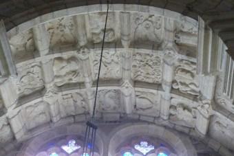 Chapelle Sennecterre- plafond sculpté