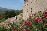 Cour du chevet et terrasse - remparts (2)