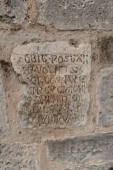 Le cloître - inscriptions