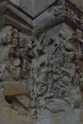 La nef - décors sculptés