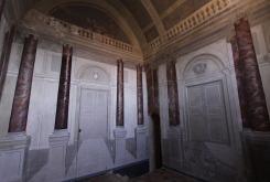 Châteu de Sagonne-Chapelle avec peintures murales