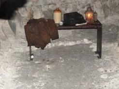 Table avec matériel