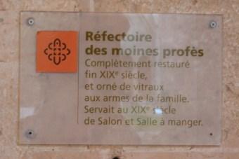 Le réfectoire des moines profès