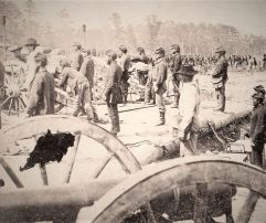 Artillerie nordista à la bataille de Fair Oaks